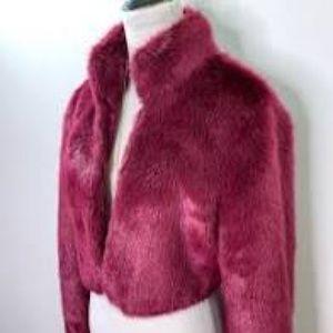 COPY - L'Wren Scott faux fur shrug/jacket Size L